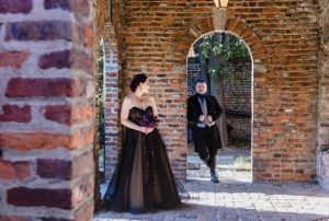 rustic goth enchanted garden poe museum wedding