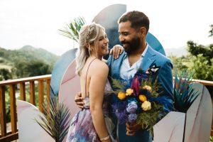 unique iridescent color palette wedding
