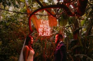 lavish and lush holly farm wedding